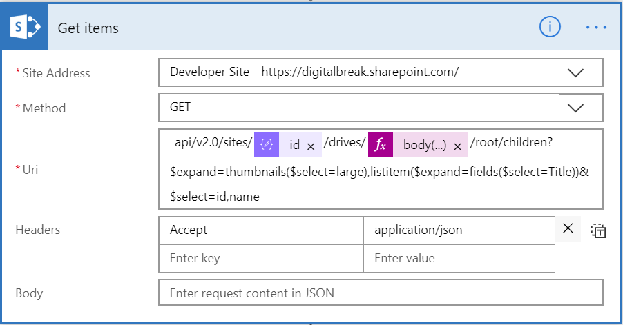 Displaying file thumbnails from a SharePoint library in